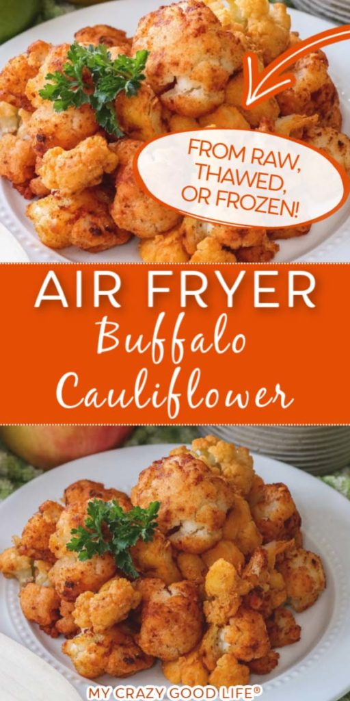 image with text of buffalo cauliflower from frozen