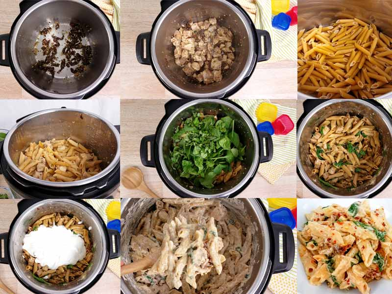 images showing steps to make this pasta
