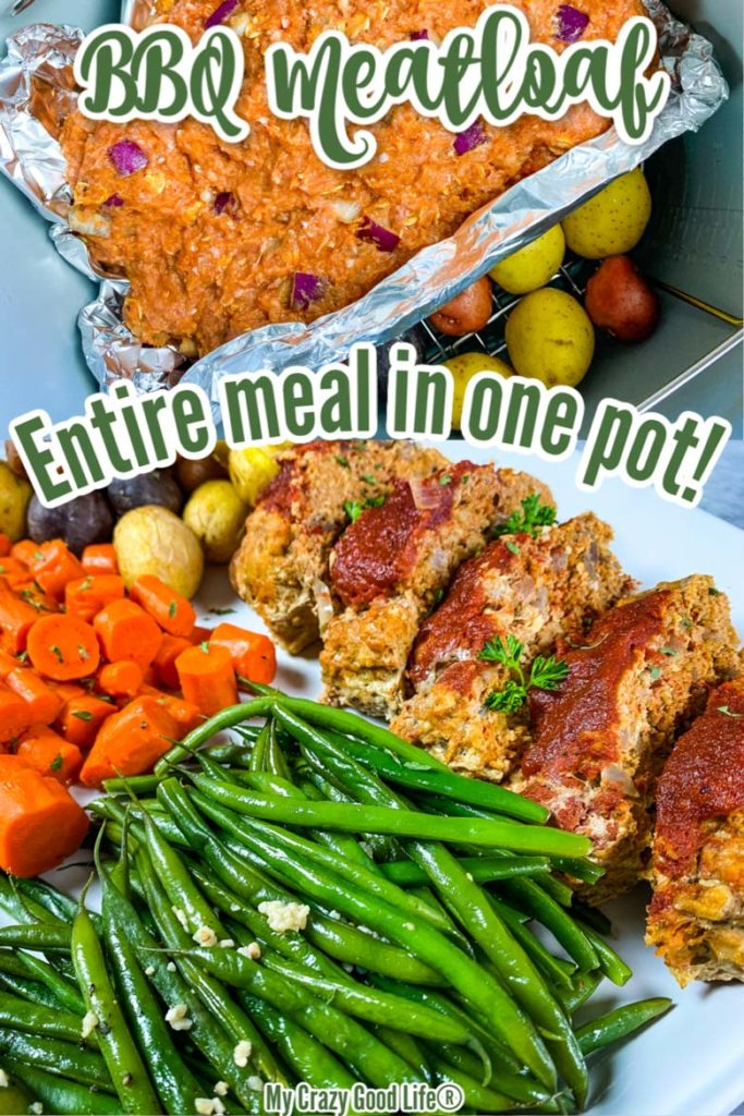 Recipe for BBQ Meatloaf -image with text-