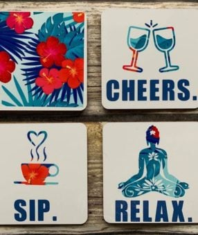 featured image showing finished coasters with infusible ink