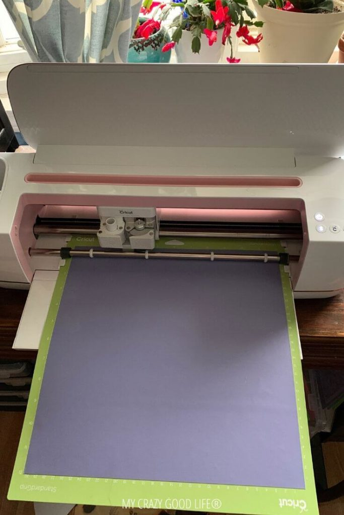 Infusible ink is loaded properly on the mat and inserted into the Cricut Maker