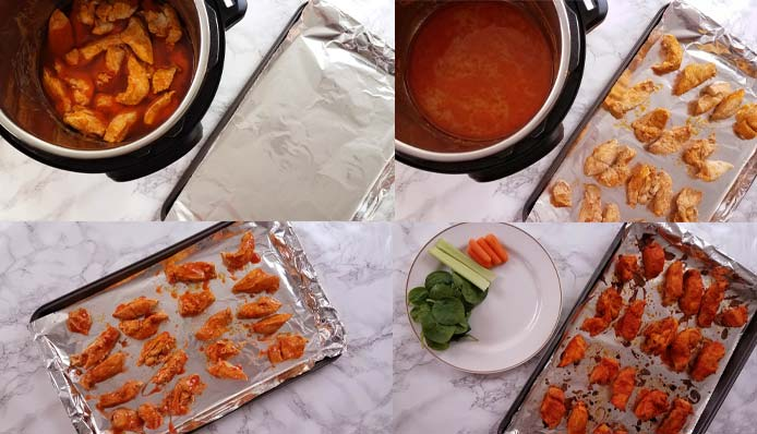 how to make buffalo chicken bites, collage