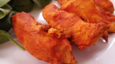 close up of boneless wings