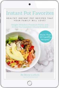 instant pot favorites ebook cover on ipad