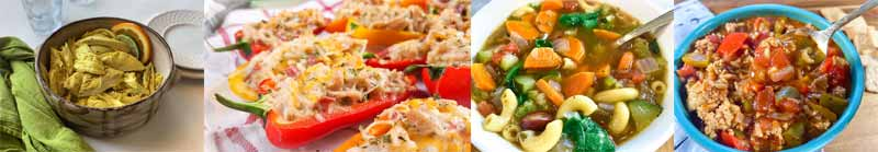 collage of instant pot meal prep lunch recipes