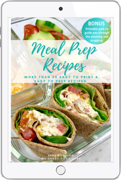 meal prep recipes ebook cover on ipad