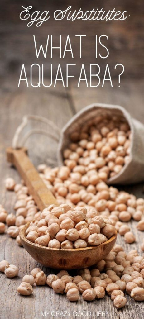 Image and of dried chickpeas that are ready to be cooked to make aquafaba for pinterest
