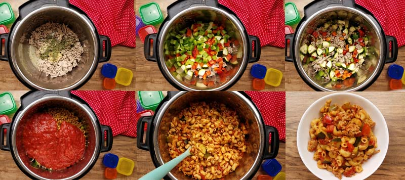 collage image of how to make goulash