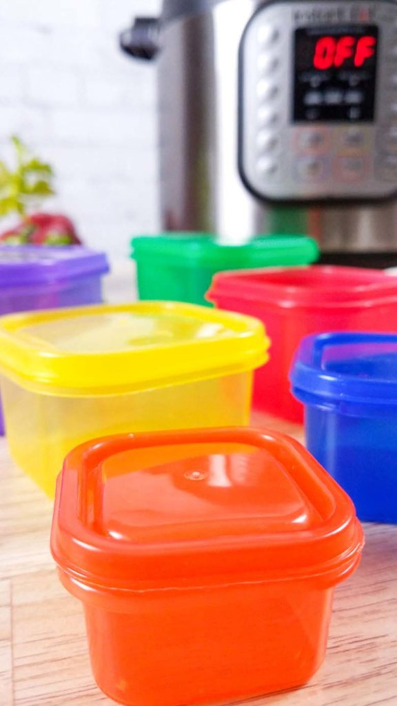 21 day fix containers with instant pot in background