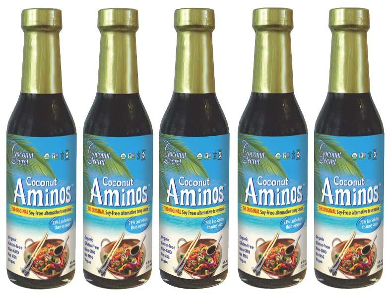 5 jars of coconut secret aminos