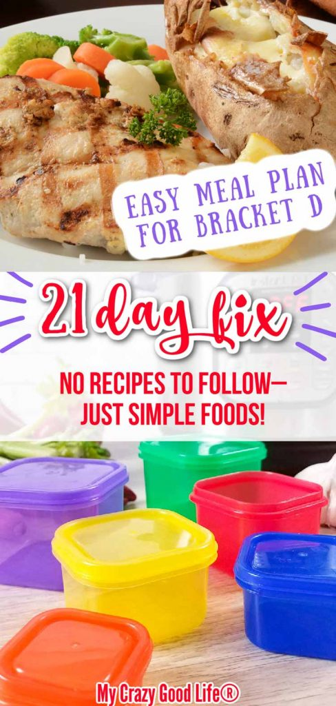 image of simple foods and 21 day fix containers