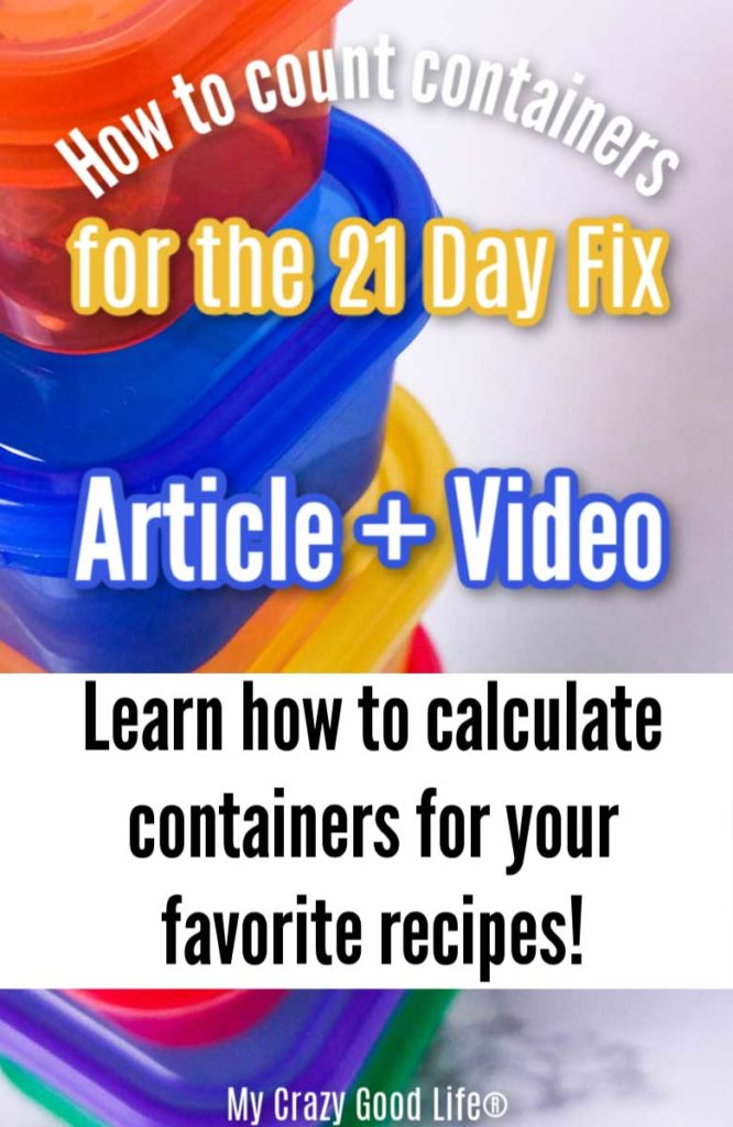 image of 21 day fix color containers with text for pinterest