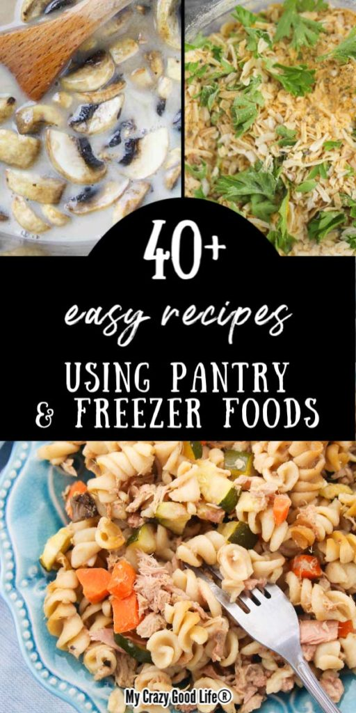 collage image of 40 easy recipes with text and collage pictures