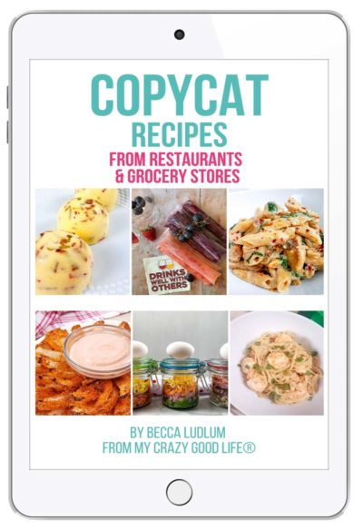 Copycat Recipes ebook on an iPad
