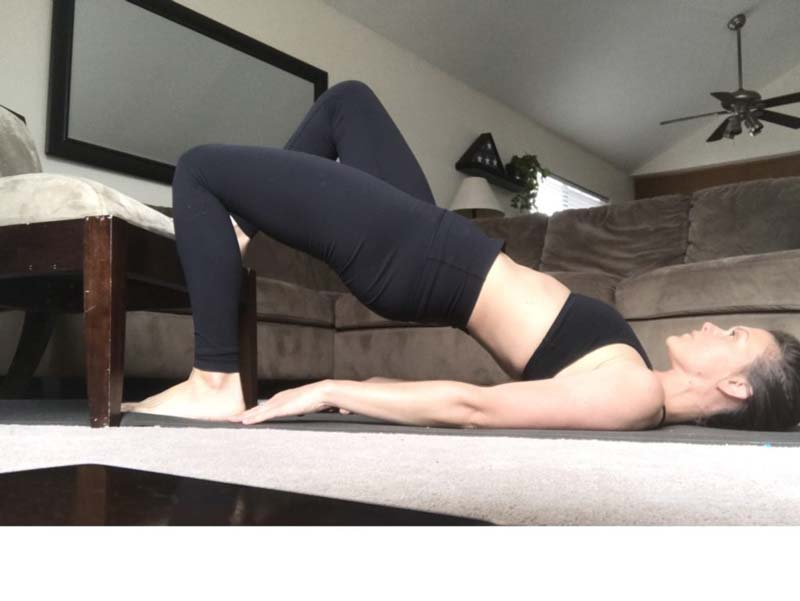 image of girl performing one leg hip thrusters