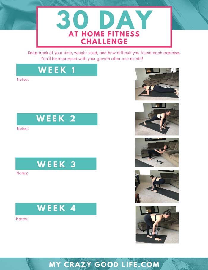 image of the 30 day challenge highlighting 4 weeks