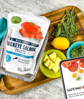 package of Open Nature Salmon