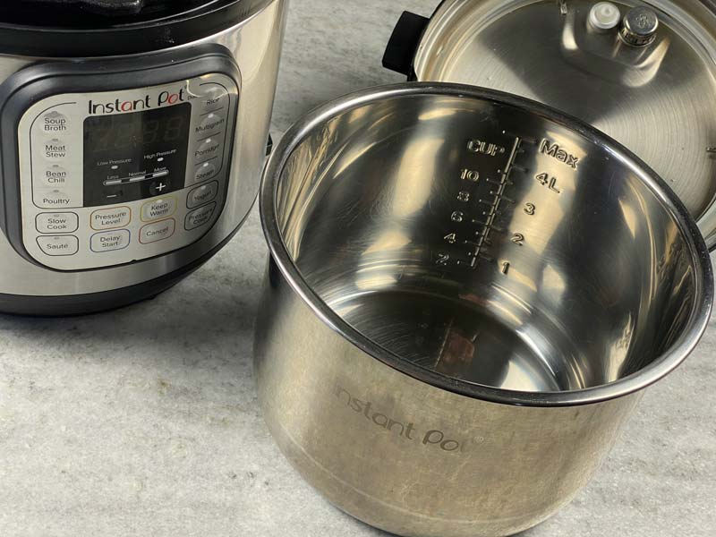 instant pot inner liner and measurements
