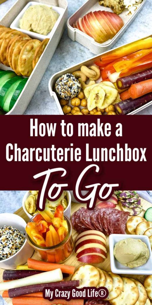 lunchbox charcuterie board collage