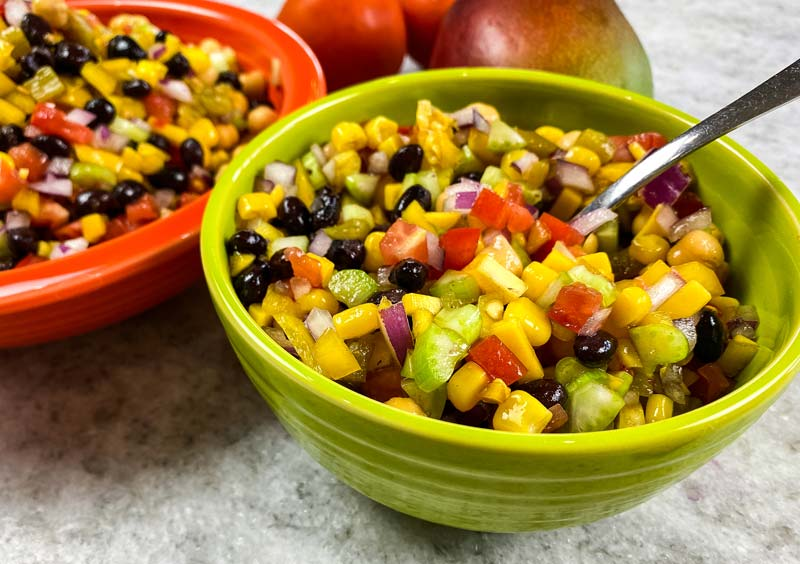 bowl of black beans and corn salad