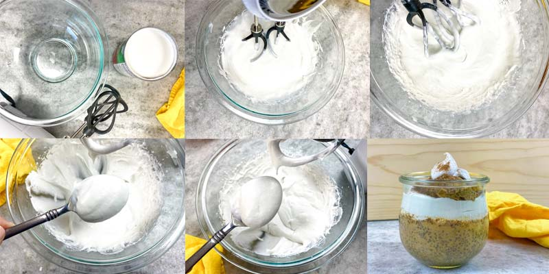 showing in process steps for how to make this recipe