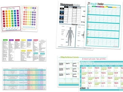 21 day fix printables available