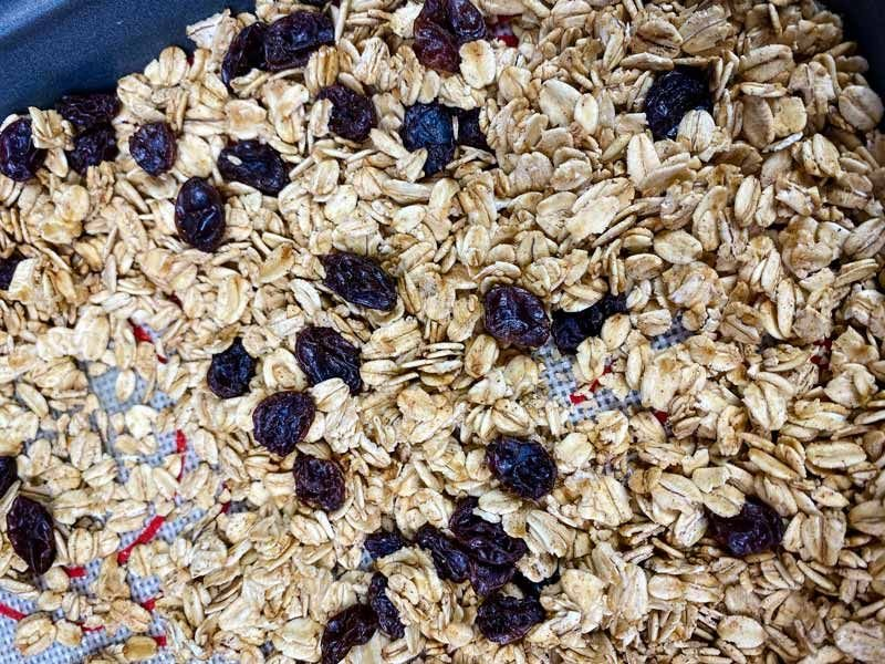 close up of easy homemade granola