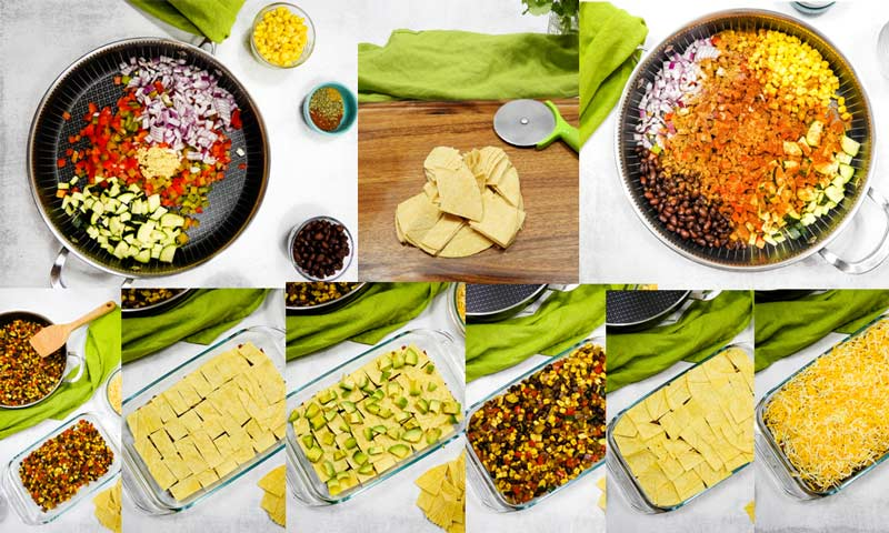 how to make a tortilla casserole -in pictures