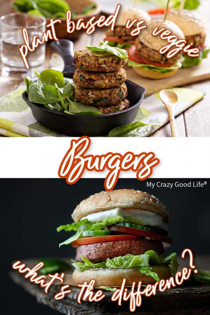 collage of Impossible burger and veggie burger