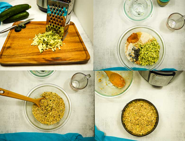 collage of images showing how to make this dish