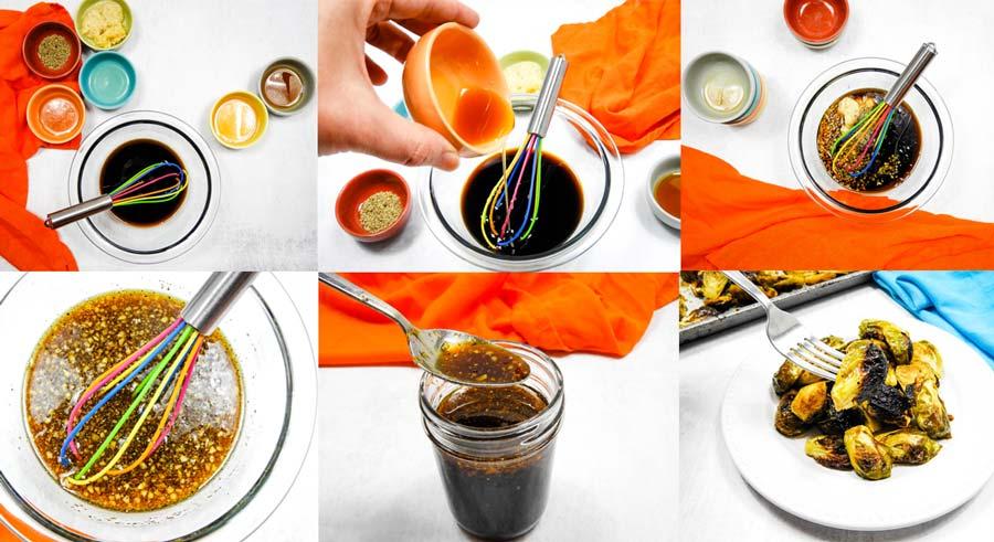 collage showing how to make this teriyaki sauce