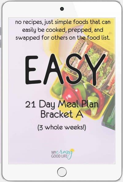 cover of simple 21 day meal plan