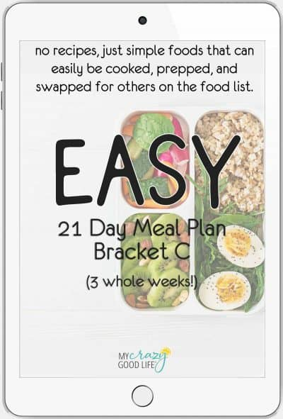 cover for 21 day meal plan c