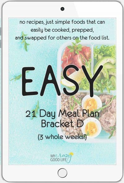 ipad cover of 21 day meal plan D