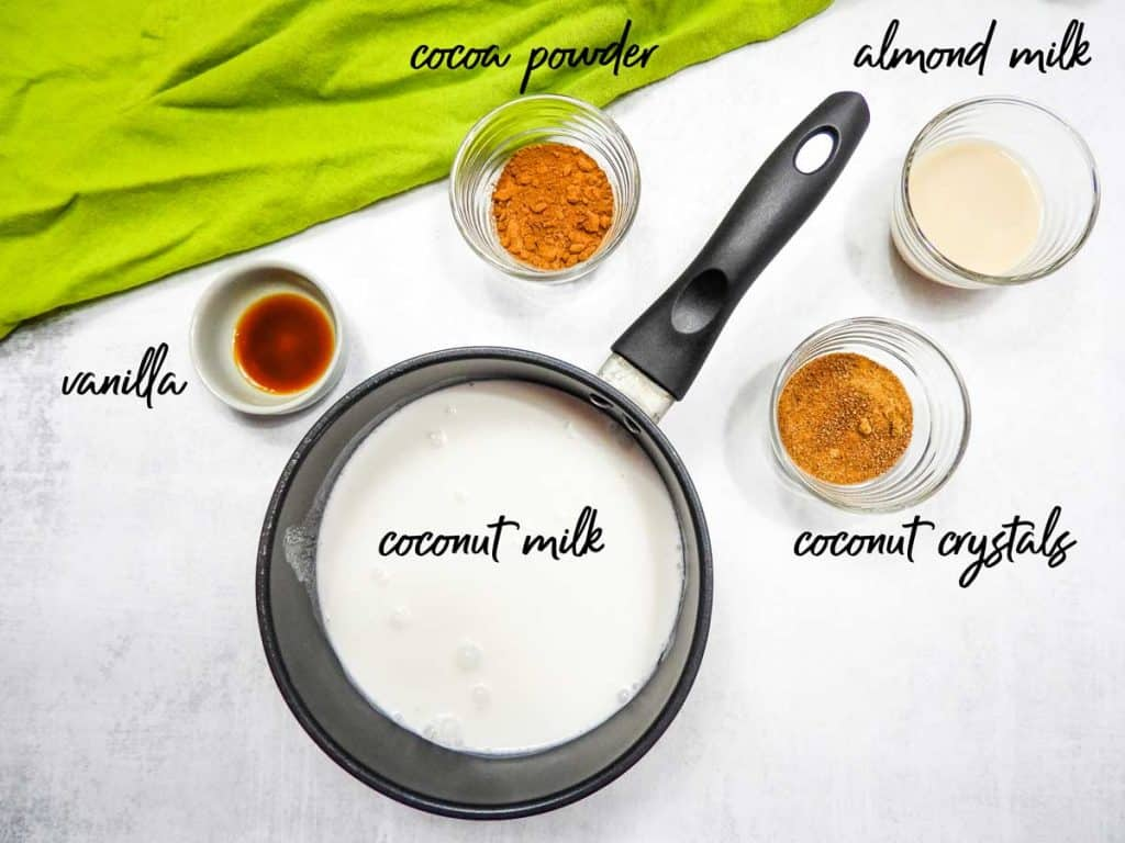 ingredients used in homemade coffee creamer with almond milk