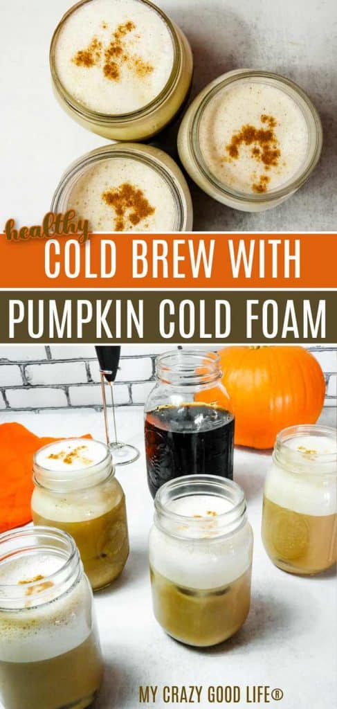 collage with text of pumpkin cream cold brew